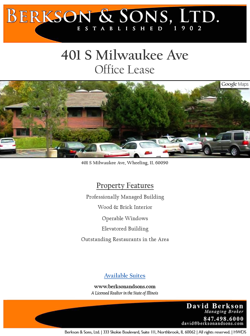 Berkson & Sons 401 Milwaukee - Property Features