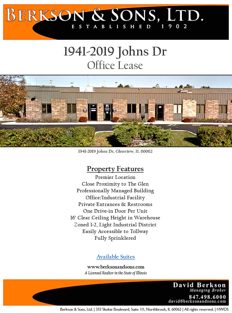 Berkson & Sons - 1941-2019 Johns Drive - Property Features